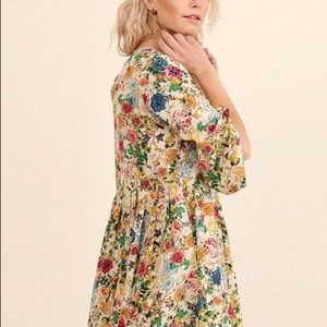 Boho Floral Boutique Mini Dress Size Medium